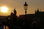 Prague Gothic Architecture | Charles Bridge at Sunset
