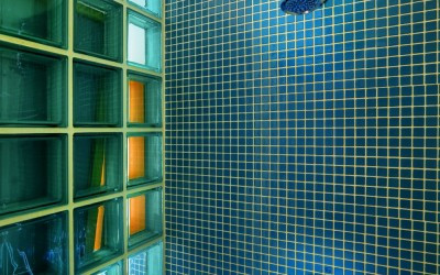 Green Tile Shower