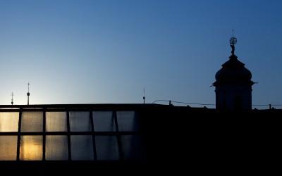 Prague Buildings at Night