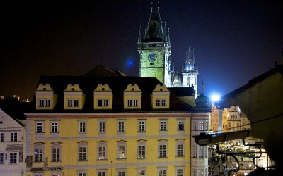 View at Night towards Old Town Square