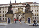 Prague Castle Gates from Hradcanske Namesti