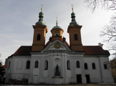 Cathedral of St. Lawrence on Petřín Hill in Prague