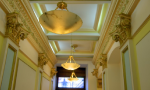 Gilded Entrance with Lighting Fixtures