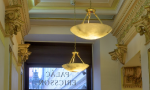 Plasterwork Detail and Lighting | Building Entrance