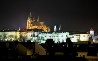 World Famous Prague Castle at Night
