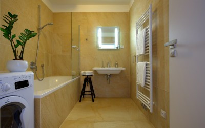 Tile Bathroom with Bathtub