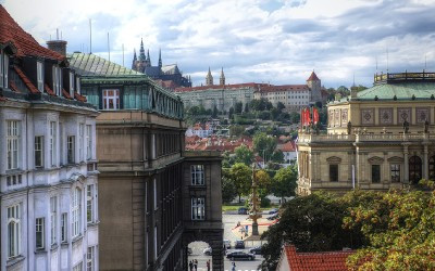 Prague Castle & Rudolfinum from Window