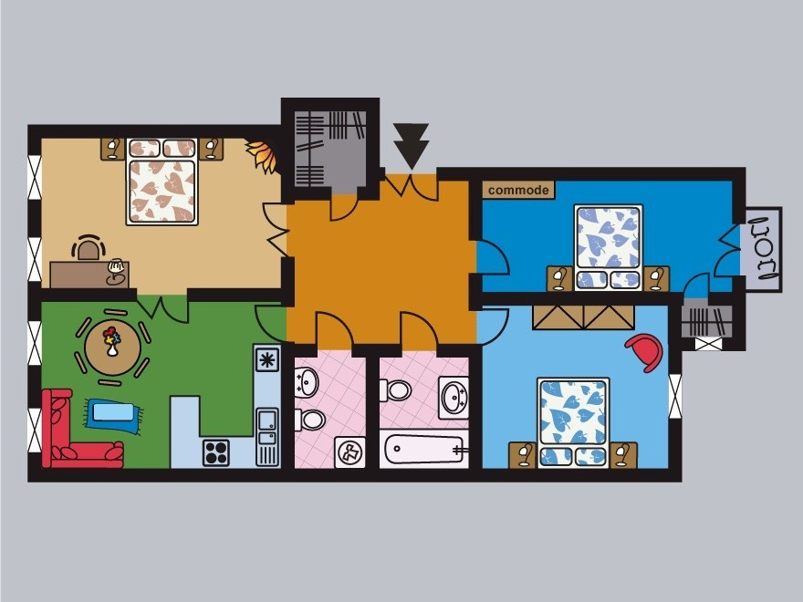 Floorplan for Harmony Apt.