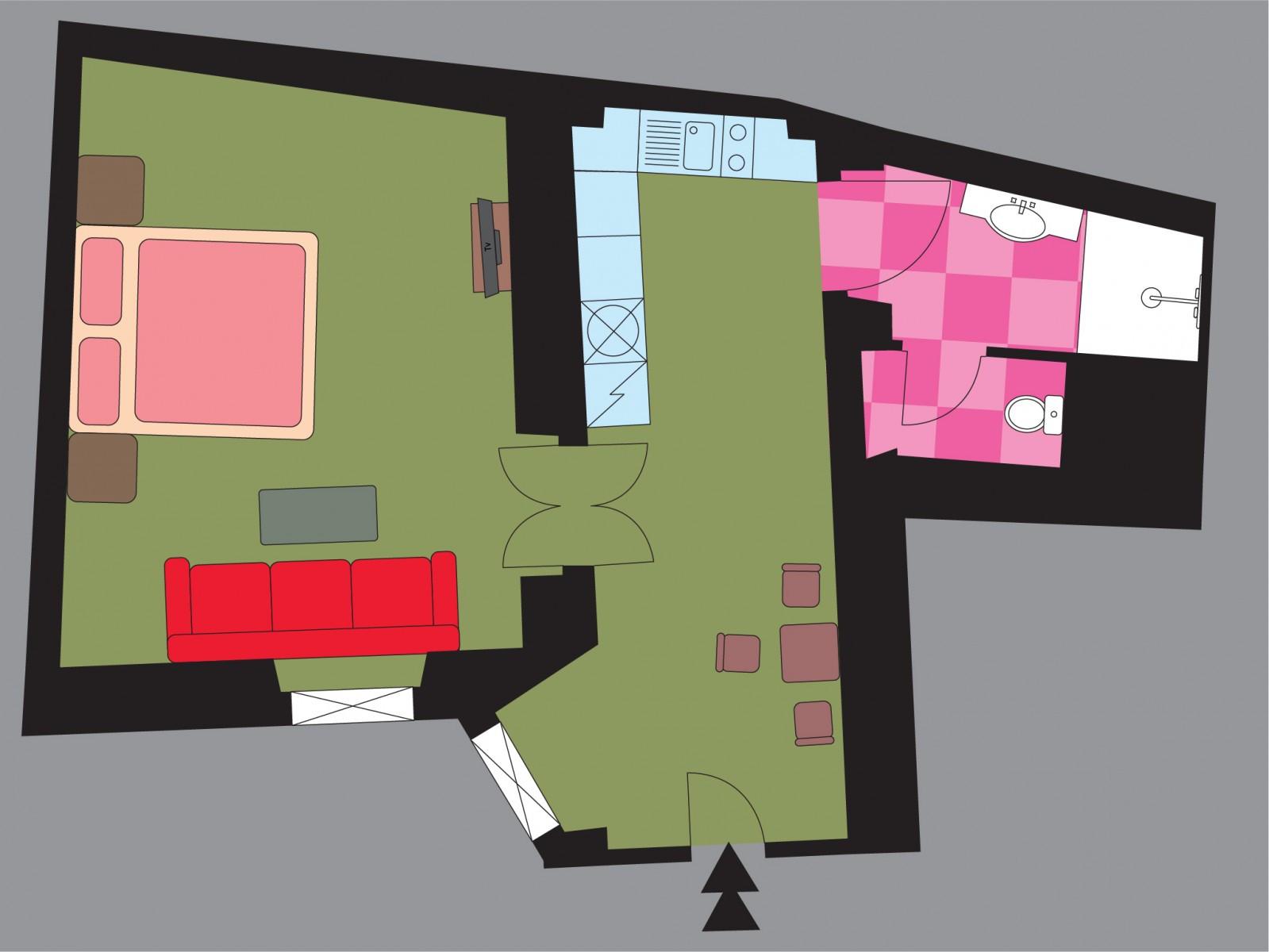 Апартамент Dahlia, план
