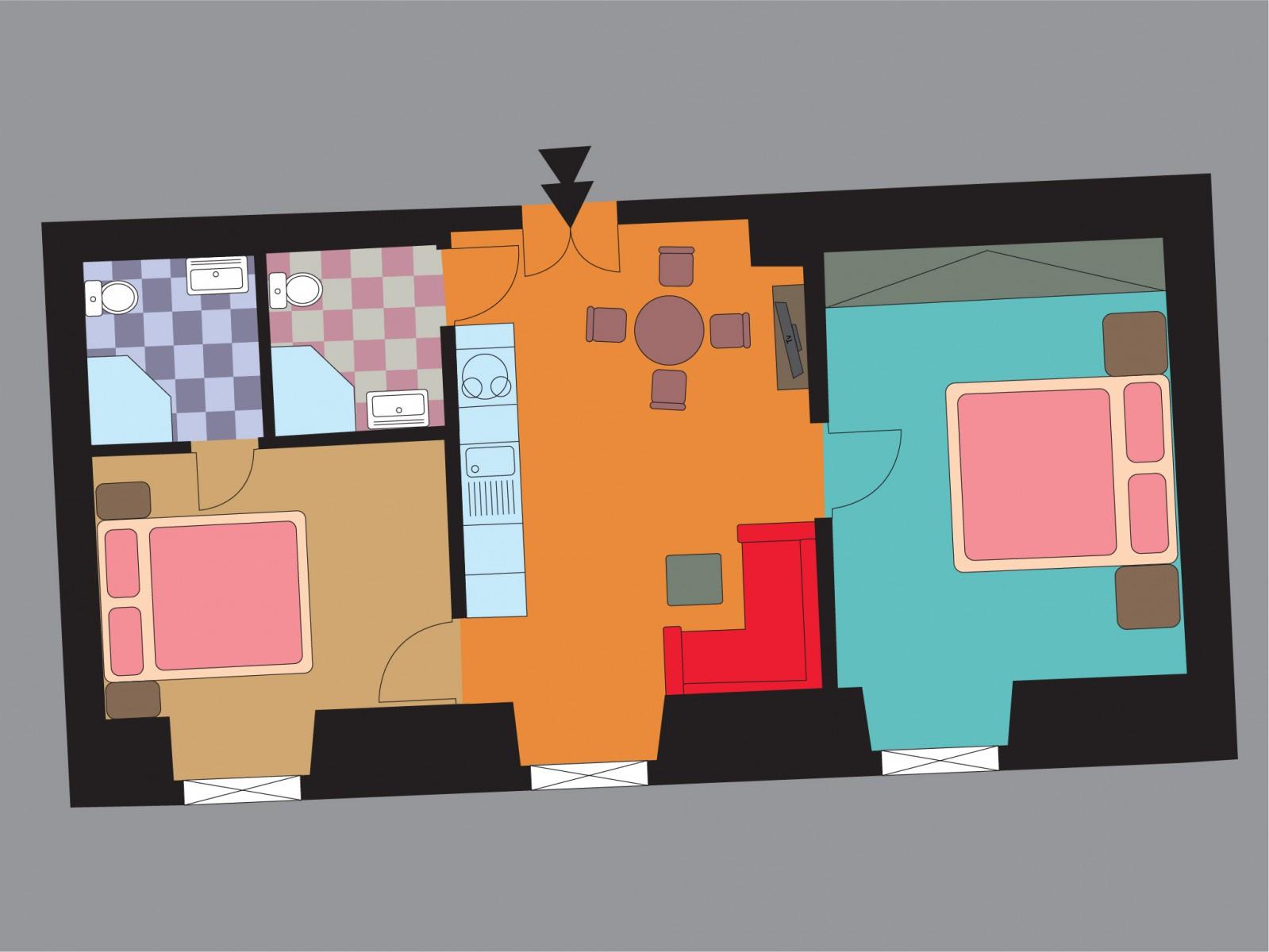 План апартамента Gladiolus