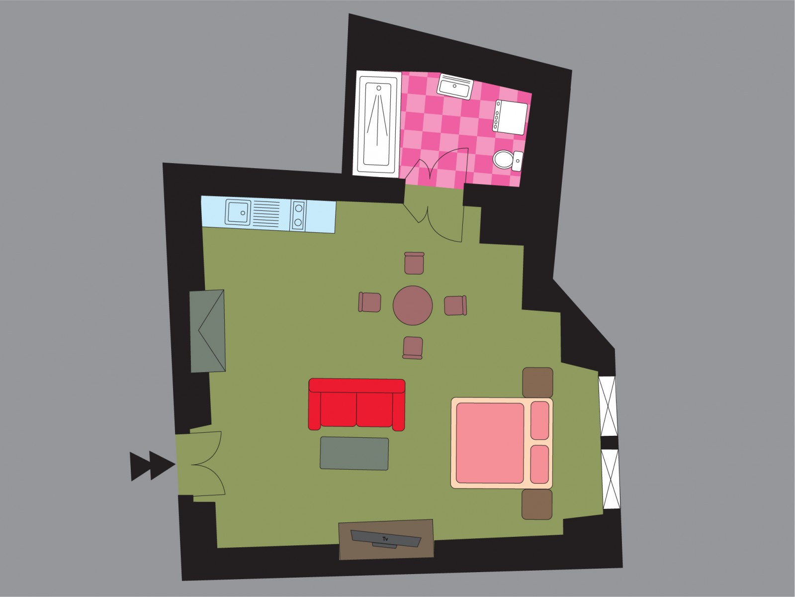 Hollyhock Apt. Floor Plan