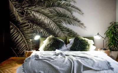 Bedroom with Palms