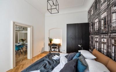 Bed, Wardrobe, Desk