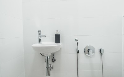 Separate Toilet with Sink