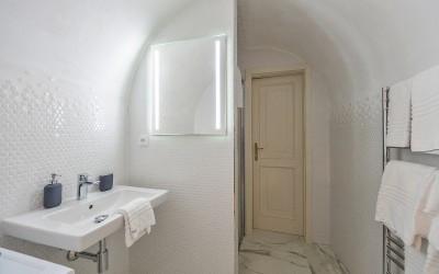 Bathroom w/ Shower, Designer Tile