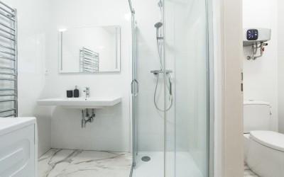 Half Bath w/ Shower, Sink, Toilet, etc.