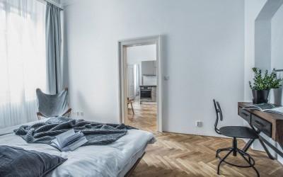 Vzdušná ložnice apartmánu Gladiolus