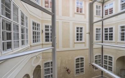 Overlooking the Courtyard