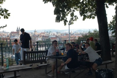 Letenske Sady Beer Garden | View of Prague