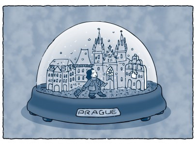 Ken Nash | Prague Snow Globe for Artel Glass