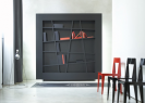 Ligne Roset | Black Bookcase