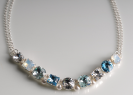 Eva Hill | Blue Crystal Necklace